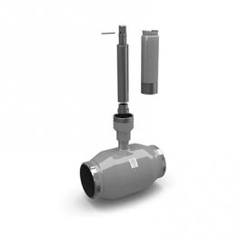 Купить LD кран стандартнопроходной (приварное соединение) с комплектом для удлинения штока шаровый для жидкости