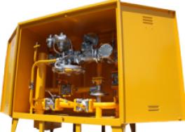 Купить ГРП-1-1Н(В) газорегуляторный пункт с регулятором РДБК1-25Н(В) (ГРП-2-1Н(В) с регулятором РДБК1-50Н(В)) с газовым обогревом с вертикальным подводом газа