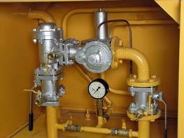 Купить ГРПШ-2а-1Н (ГРПШ-2а-01-1Н) с регулятором РДНК-50/400 (РДНК-50/1000) с газовым обогревом