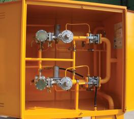 Купить ГРПШ-2а-02-2С с регуляторами РДСК-50/400 (РДСК-50/400Б, РДСК-50/400М) с газовым обогревом