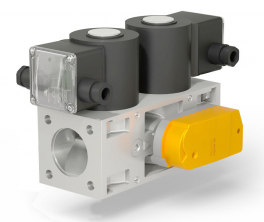 Купить Клапаны электромагнитные двойные двухпозиционные с электромеханическим регулятором расхода (СП «ТермоБрест»)