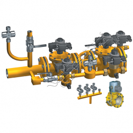 Купить АМАКС-БГ4 блок газооборудования котла DN 50 мм, Pp 0,25МПа